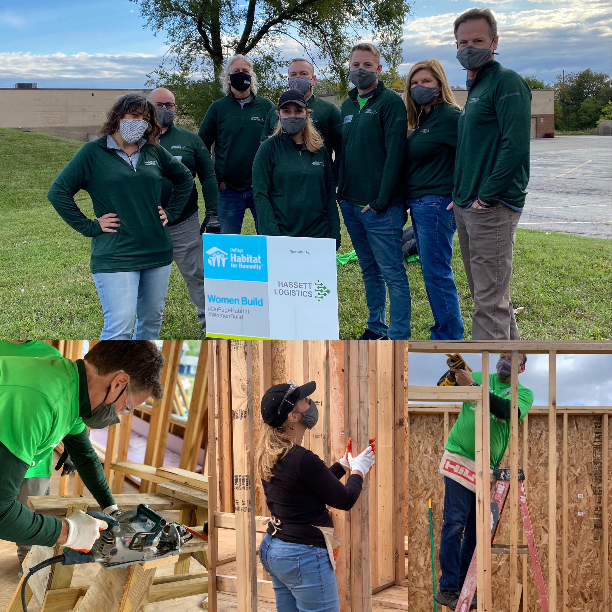 Team Hassett Building at the Women Build